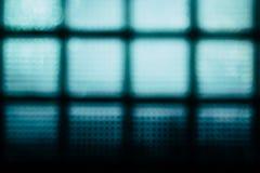 Turkusowego abstrakta zamazany tło Ściana szklani bloki Zdjęcia Royalty Free