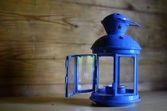 Turkusowego błękita stara lampa Obrazy Stock