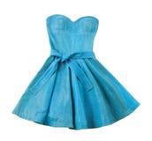 Turkusowego rzemiennego evase bez ramiączek popędzająca suknia Fotografia Stock