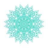 Turkusowy abstrakcjonistyczny koncentryczny deseniowy kształt ilustracja wektor