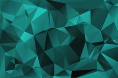 Turkusowy abstrakcjonistyczny poligonalny tło Fotografia Stock