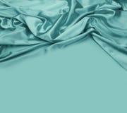 Turkusowy jedwabniczej tkaniny tło Obraz Royalty Free