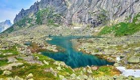 Turkusowy kolor woda glacjalny jezioro Obraz Stock