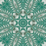 Turkusowy mandala fractal Obrazy Stock