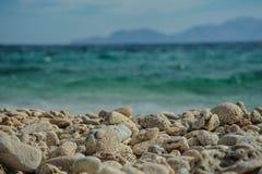 Turkusowy morze Zdjęcia Royalty Free