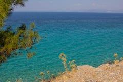 Turkusowy morze Zdjęcia Stock