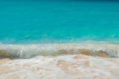 Turkusowy morze karaibskie Fotografia Royalty Free