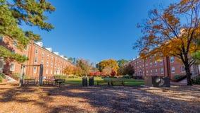 Turlington Hall и Александр Hall на государственном университете NC Стоковое Фото