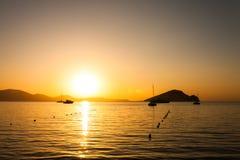 Turltle strand, Zakynthos Royaltyfri Fotografi
