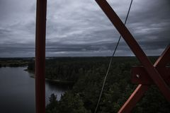 Am Turm Stockbild