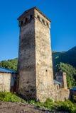 Turm in Adishi, Georgia Lizenzfreies Stockbild