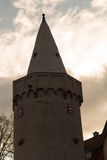 Turm auf dem Fluss Stockbild