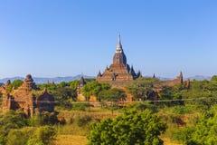Turm Bagan Buddha am Tag Stockbild