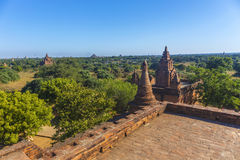 Turm Bagan Buddha am Tag Lizenzfreies Stockfoto