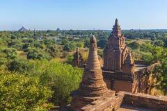 Turm Bagan Buddha am Tag Lizenzfreies Stockbild