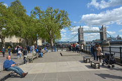 Turm-Brücke in London - England Großbritannien Lizenzfreies Stockfoto