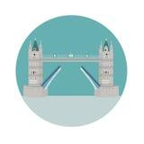 Turm-Brücke in London, Großbritannien lizenzfreie abbildung