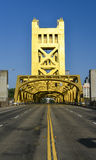 Turm-Brücke, Sacramento, Kalifornien lizenzfreies stockfoto