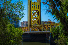 Turm-Brücke Sacramento Kalifornien Stockbild