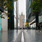 Turm-Brücke von mehr London-Flussufer Lizenzfreies Stockfoto