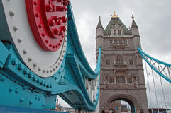 Turm-Brückendetail Stockfotografie