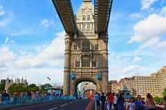 Turm-Brückenszene London Vereinigtes Königreich Stockfotografie