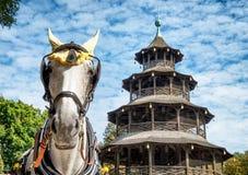 Turm de Chinesischer - Munich Photos stock