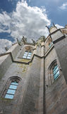 Turm in der Abtei von Mont Saint Michel. Stockfotos