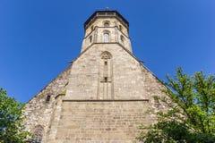 Turm der Blasius-Kirche in der historischen Stadt Hann Muenden Stockbild