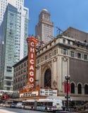 Turm, der Chicago-Theater Illinois errichtet Lizenzfreie Stockfotos
