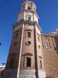 Turm der Kathedrale von Cadiz Stockbilder