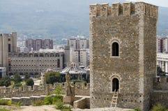 Turm der Kohl-Festung - Skopje - Mazedonien lizenzfreies stockbild