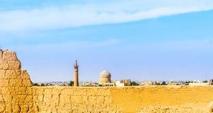 Turm der Moschee in Maybod - dem Iran Lizenzfreies Stockfoto