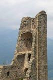 Turm der schönen Alda bei Sacra di San Michele, Turin Stockbilder