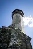 Turm des alten Cistercian-Benediktinerklosters in Carta, Rumänien lizenzfreie stockfotos