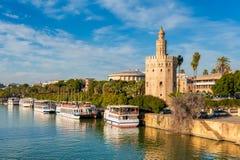 Turm des Goldes Sevilla Stockfoto