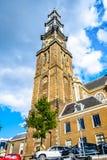 Turm des historischen Westerkerk in Amsterdam nahe Anne Frank House beim Prinsengracht in Amsterdam lizenzfreie stockbilder