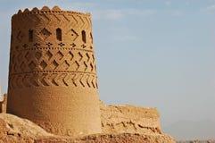 Turm des ` Narin Qal wie in der Stadt von Meybod, der Iran Stockfotografie