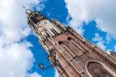 Turm des Nieuwe Kerk in Delft Stockbilder