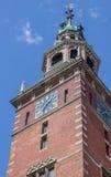 Turm des Rathaus im Seitenblick Stockbild