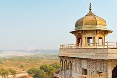 Turm des roten Forts, Agra, Uttar Pradesh, Indien stockbilder