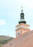 Turm des Schlosses in Mikulov Stockbilder
