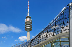 Turm des Stadions des Olympiapark in München Stockfotografie