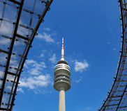 Turm des Stadions des Olympiapark in München Lizenzfreies Stockfoto