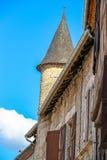 Turm eines Hauses in Martel, Los, Midi-Pyrénées, Frankreich Lizenzfreie Stockbilder