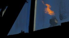 Turm für das Gaserweitern stock video footage
