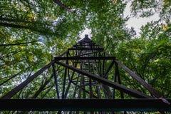 Turm im Wald Stockbild