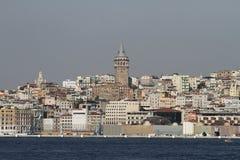 Turm Karakoy und Galata in Istanbul-Stadt Stockfotos