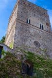 Turm-Landhaus Rufolo auf der Amalfi-Küste, Ravello, Italien Konzept von Tourismus und von Kultur Stockfotos