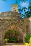 Turm-Landhaus Rufolo auf der Amalfi-Küste, Ravello, Italien Konzept von Tourismus und von Kultur Stockbilder